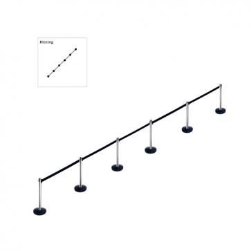 Set van 6 afzetpalen - Beltrac Pure (6x2m)