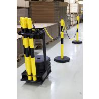 Afzetpalen met ketting inclusief transportunit (25m)