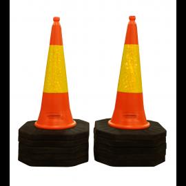 Set van 10 verkeerskegels pionnen 100 cm