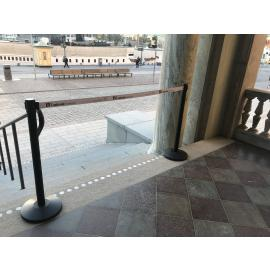 FlexiBarrier Afzetpaal -Basic 250- (3m band)